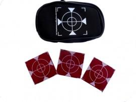 100 pcs. Reflective Labels - red 60mm x 60mm + case