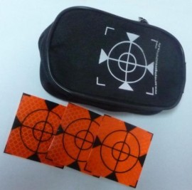 100 pcs. Reflective label 40mm x 40mm orange + case