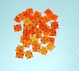 100 pcs. Reflective label 20mm x 20mm orange