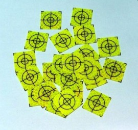 100 pcs. Reflective label 20mm x 20mm celadon
